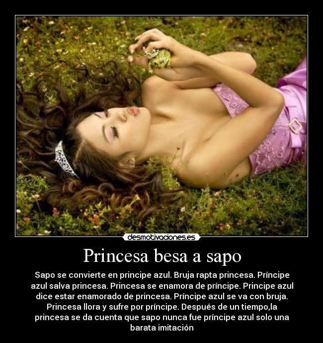 princesas besando sapos