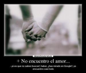 encontrar el amor, buscar el amor