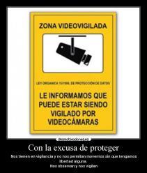 zona videovigilada cámaras de seguridad