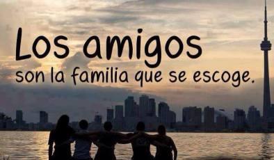 los amigos son la familia que se escoge