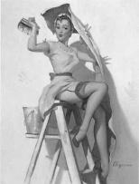 mujer vintage bricolaje