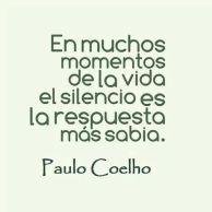 el silencio es la respuesta más sabias
