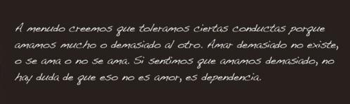 no es amor es dependencia