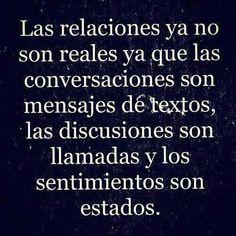 las relaciones ya no son reales